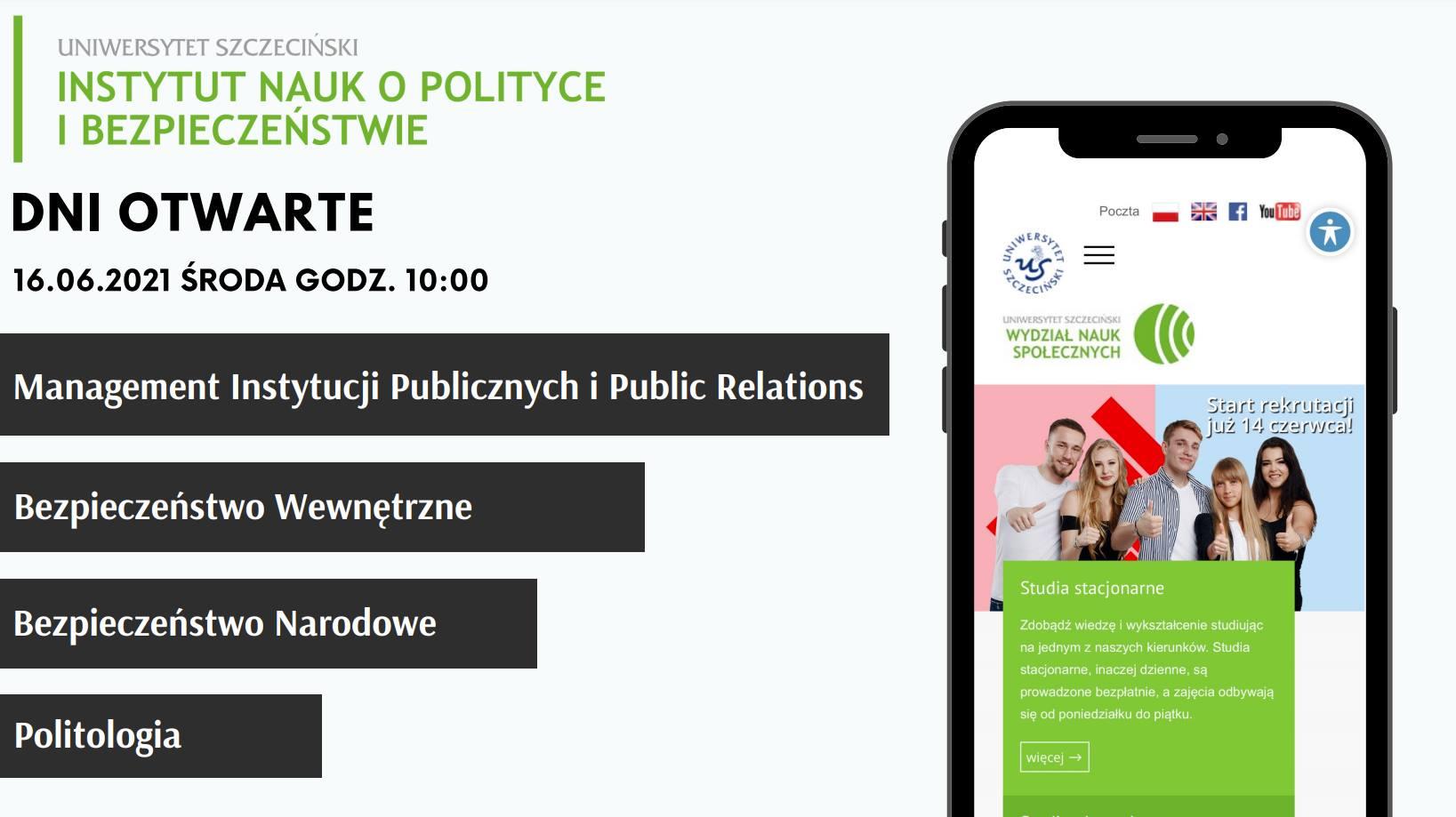 Dzień Otwarty Instytutu Nauk o Polityce i Bezpieczeństwie